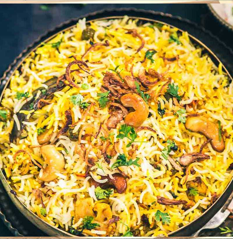 HYDERABADI VEG DUM BIRYANI(SINGLE )