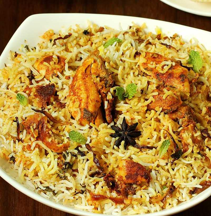 HYDERABADI CHICKEN  DUM BIRYANI(JUMBO )
