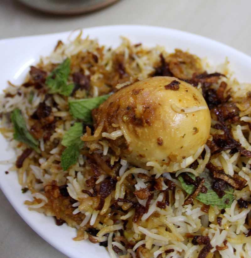 HYDERABADI EGG DUM BIRYANI(SINGLE )